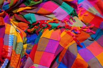 Colorful Colors Fabric Cloth Colourful Vibrant