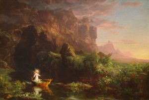 Thomas Cole, The Voyage of Life - Childhood, 1842
